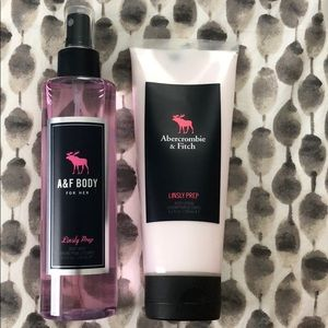 A&F Lindsly Prep body slay and lotion